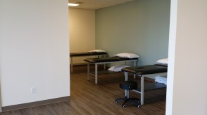 Open treatment area at Palermo Physio and wellness in Oakville