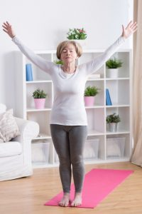 Woman doing Yoga - yoga Therapy or private yoga at Palermo Physio clinic