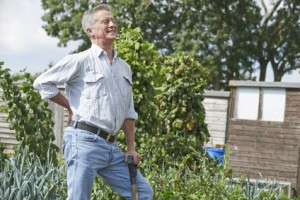 Gardening injuries, low back pain prevention with physio, massage, foot care, podiatrist