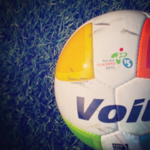 Pan Am Games - Game ball for soccer in Oakville