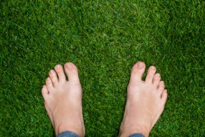 Feet on grass showing oakville footcare and diabetic footclinic