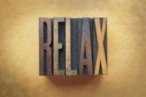 Relax - words to show oakville massage and physio