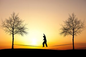 Slacklining picture to show oakville and burlington physio and yoga clinic