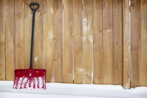 Snow shovel showing Oakville Physio and massage clinic