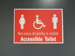 Accessible sign from an Oakville Physio, massage, foot clinic