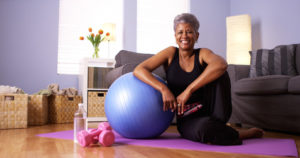 woman after working out showing Oakville pelvic health Physio