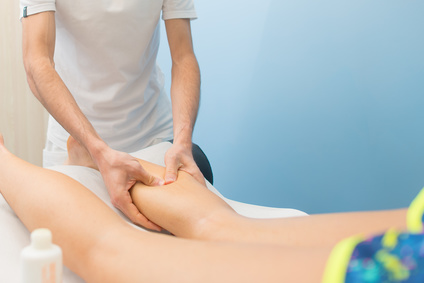 Massage of the legs showing Oakville RMT