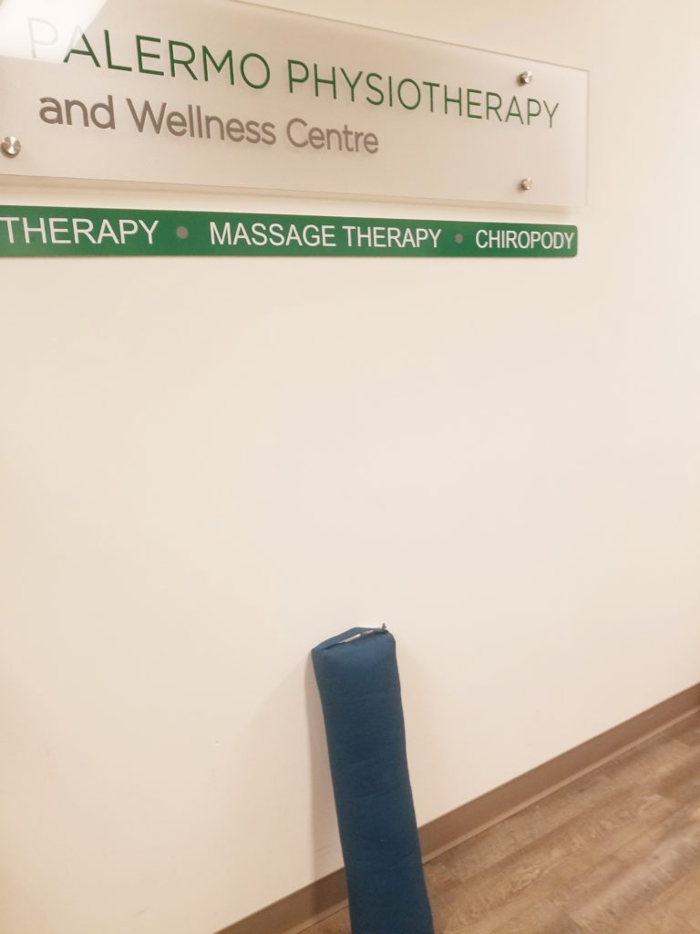 yoga bolster showing best Oakville Physiotherapy clinic
